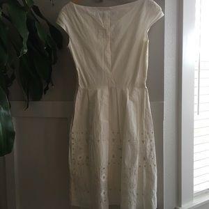Lela Rose Dresses - SOLD Lela Rose Cotton Ivory Fit and Flare